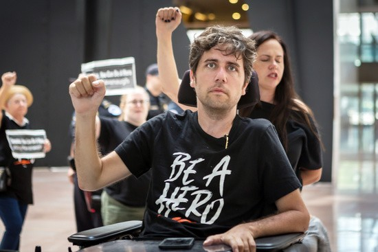 August 1, 2018 - District Of Columbia, District of Columbia, United States - Activists from across the county converged in Washington DC for an action dubbed ''Say No to Kavanaugh.'' Brett Kavanaugh is Donald Trump's latest nomination for the Supreme Court, which would fill the seat of Justice Anthony Kennedy who is retiring later this year. Over 60 people were arrested after a day of trying to disrupt Kavanaugh's scheduled meetings with various Senators who are rumored to be on the fence about his confirmation. (Credit Image: © Michael Nigro/Pacific Press via ZUMA Wire)