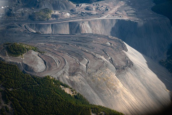 Coal mines like this one, using mountaintop-removal mining techniques, are being proposed in the eastern slopes of Alberta's Rocky Mountains.