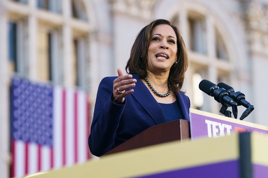OAKLAND, CA - JANUARY 27: Senator Kamala Harris (D-CA) speaks to her supporters during her presidential campaign launch rally in Frank H. Ogawa Plaza on January 27, 2019, in Oakland, California. Twenty thousand people turned out to see the Oakland native launch her presidential campaign in front of Oakland City Hall. (Photo by Mason Trinca/Getty Images)