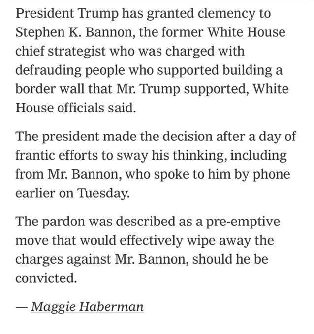 Trump talked to associates about a new political party as he pardons Steve Bannon