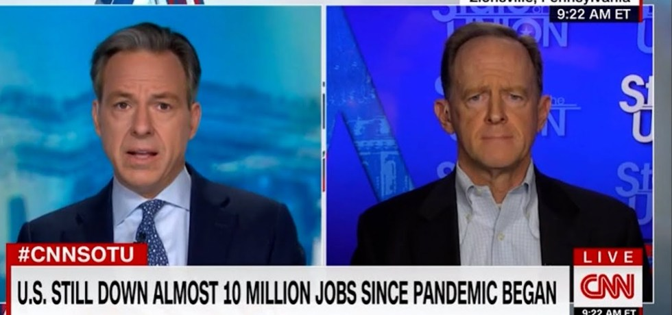 Tapper embarrasses Sen Toomey with his own words after he went after Biden for using reconciliation