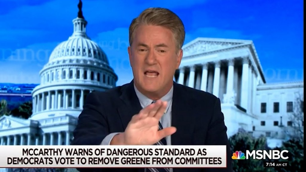 Joe Scarborough ridicules Kevin McCarthy & his Democratic list: The 4yrs of McCarthyism are over.