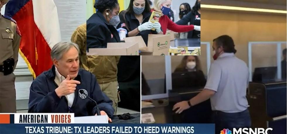 While Texas Republicans lie & flee, Reps AOC, Sheila Jackson Lee, & Sylvia Garcia aid citizens