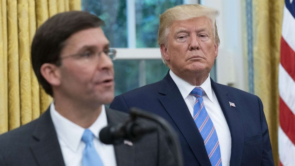 , Trump's Own DOD Chief Says Trump Started the Riot, The Politicus