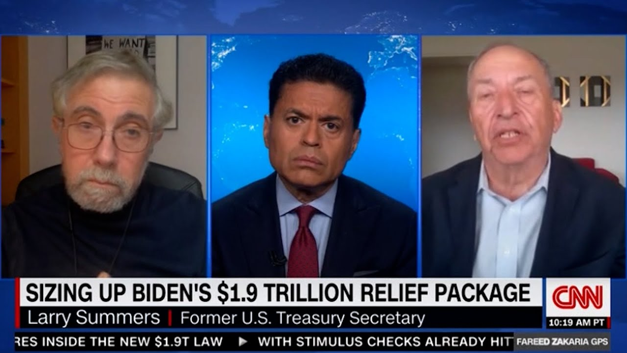 Liberal economists Krugman & Summers battle on the American Rescue Plan. One of them belongs in GOP.