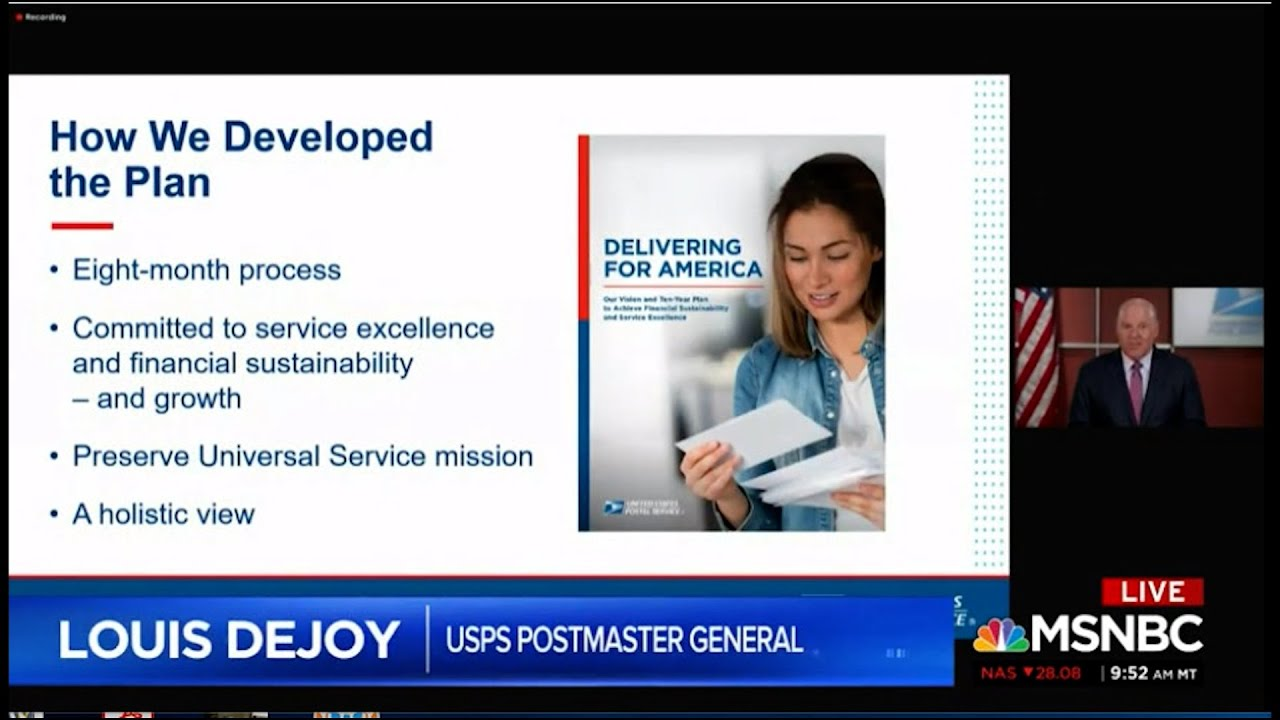 Postmaster General Louis Dejoy attempts to cripple the postal service likely for a specific reason