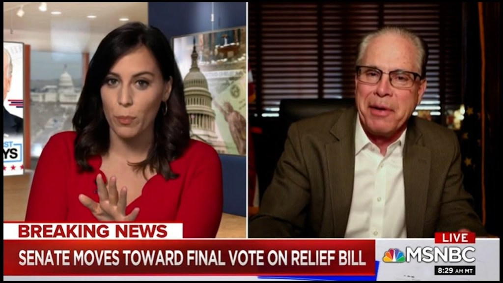 This! Hallie Jackson blows holes into Republican Senator Brauns' COVID bill objections in real-time