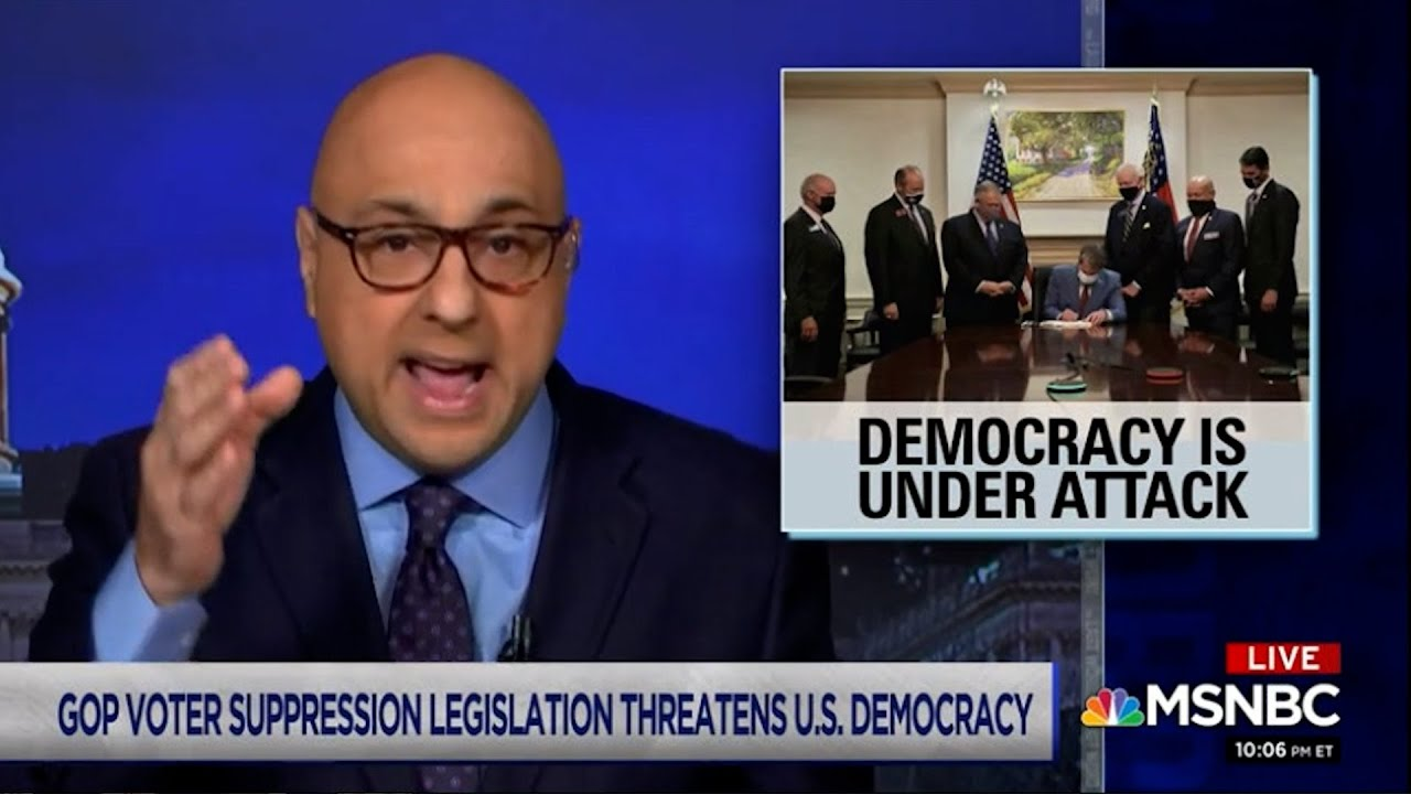 Ali Velshi uses his impressive immigrant story to excoriate Republicans for suppressing democracy.