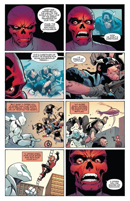 jordan peterson,jordan peterson comic,jordan peterson ta nehisi coates,jordan peterson got offended that ta-nehisi coates did a parody of his idea,ta-nehisi coates jordan peterson, self-ownage: Jordan Peterson probably thinks a Red Skull comic is about him, The Politicus