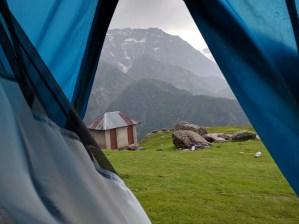 of the first real camping experience
