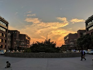 of one of the best sunsets Noida had to offer