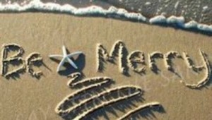 merry christmas in the sand