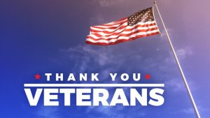 veterans thank you and flag