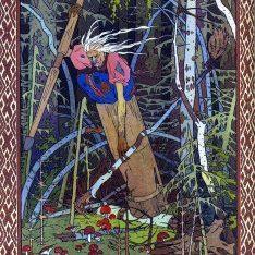 Baba Yaga as depicted by Ivan Bilibin, 1900. Source: Wikipedia. Public Domain.
