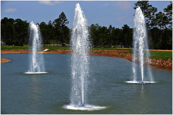 large outdoor fountains ponds