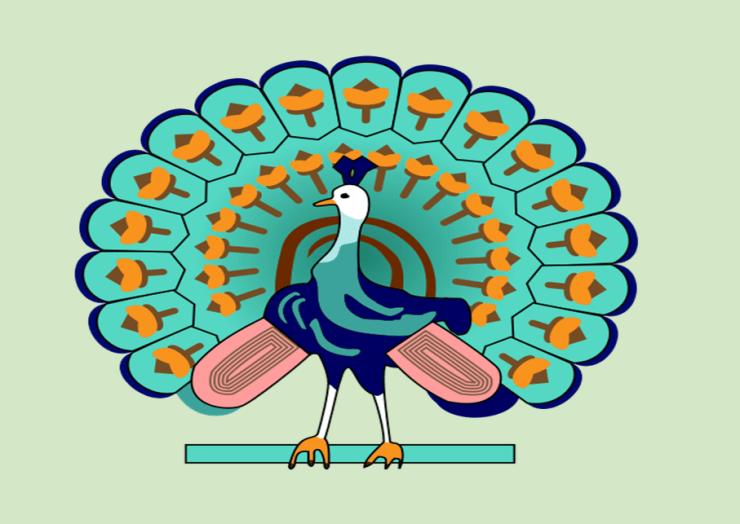 Goal Setting Peacock