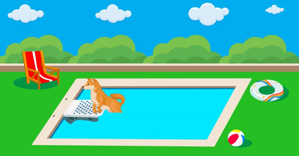 """The dimensions are 70""""l x 16""""w x 25""""h, and it is backed by a. The Best Dog Pool Ramps In 2021 Best Reviews Guide"""