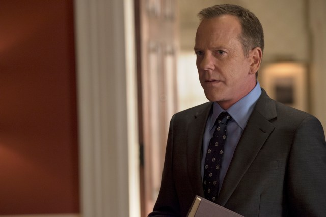 Kiefer Sutherland in Designated Survivor Season 2 Premiere