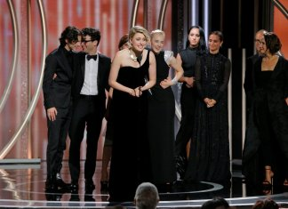 Cast of Lady Bird at The Golden Glones