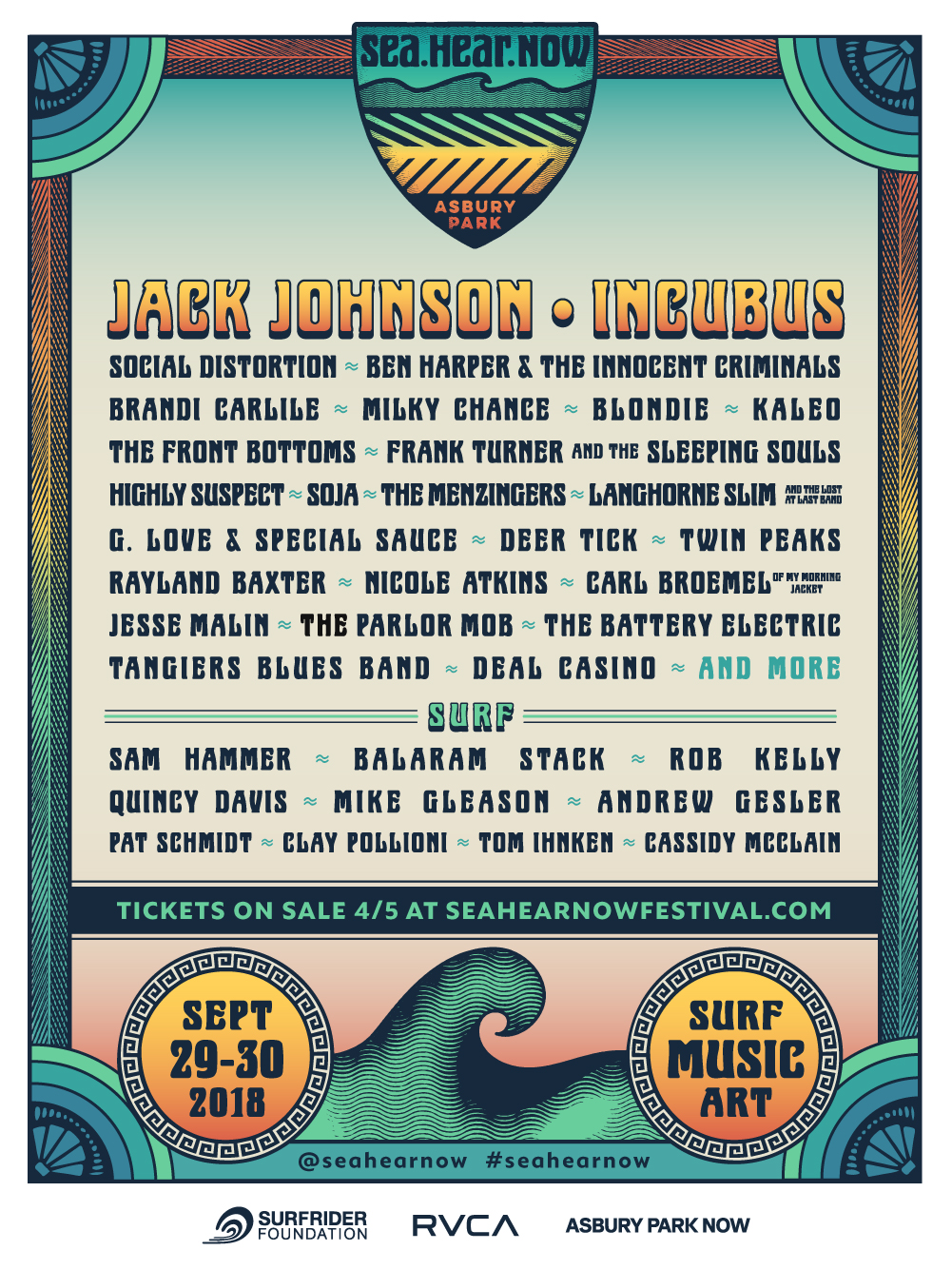 Jack Johnson Incubus To Headline First Ever Sea Hear Now Festival