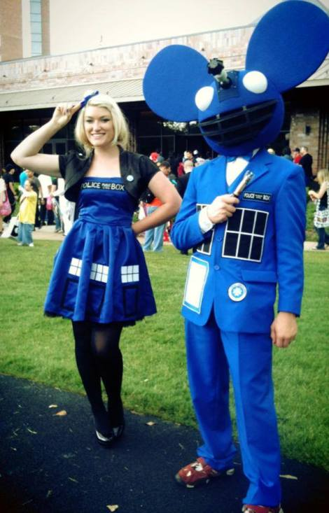 Tardis Girl and Tardis Deadmau5