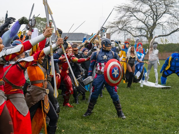 EXCLUSIVE: 95 Marvel Cosplayers Gather on Governor's Island to Commemorate 'Endgame'