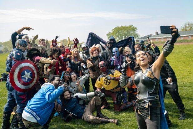 Marvel Cosplay Governor's Island Meetup: Valkyrie Selfie