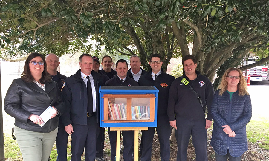 Visit the POP Project's Newest Little Free Library at Asheville Fire Station 2