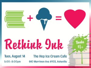 Rethink Ink Book Sale Fundraiser at the Hop @ The Hop Ice Cream Cafe