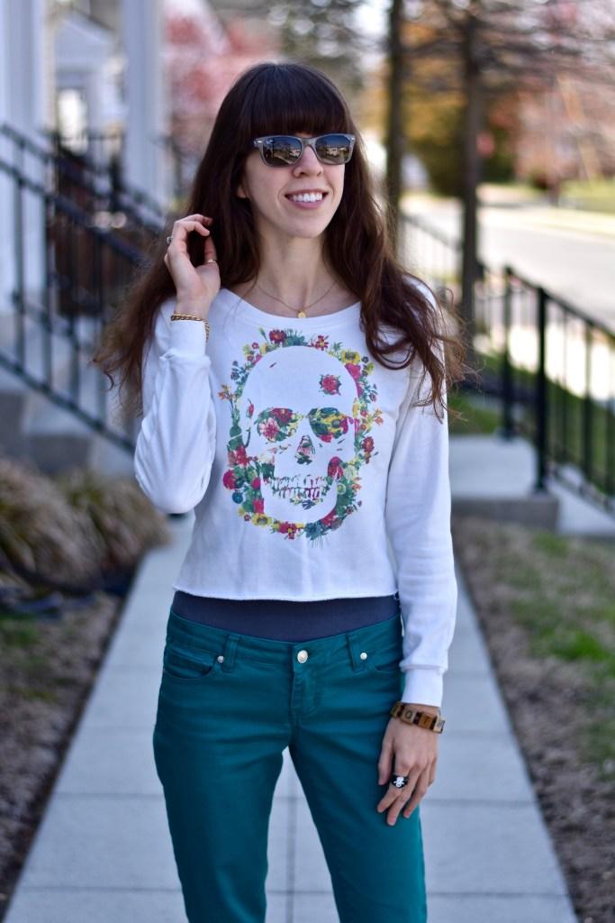 Skull Sweater for Spring-thepoppyskull.com