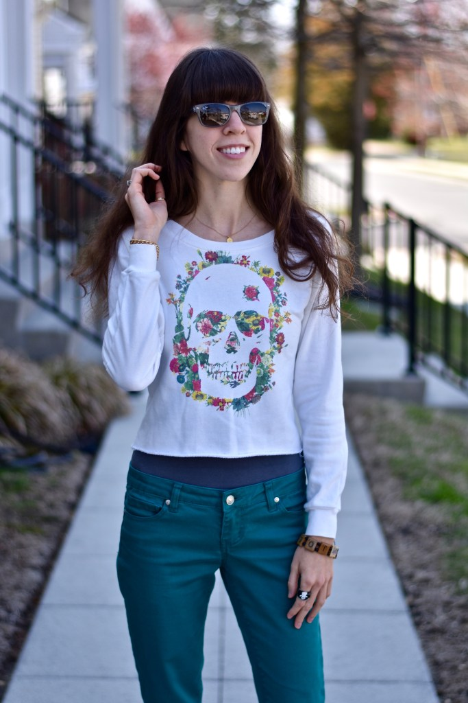 Skull Sweater for Spring-thepoppyskull.com