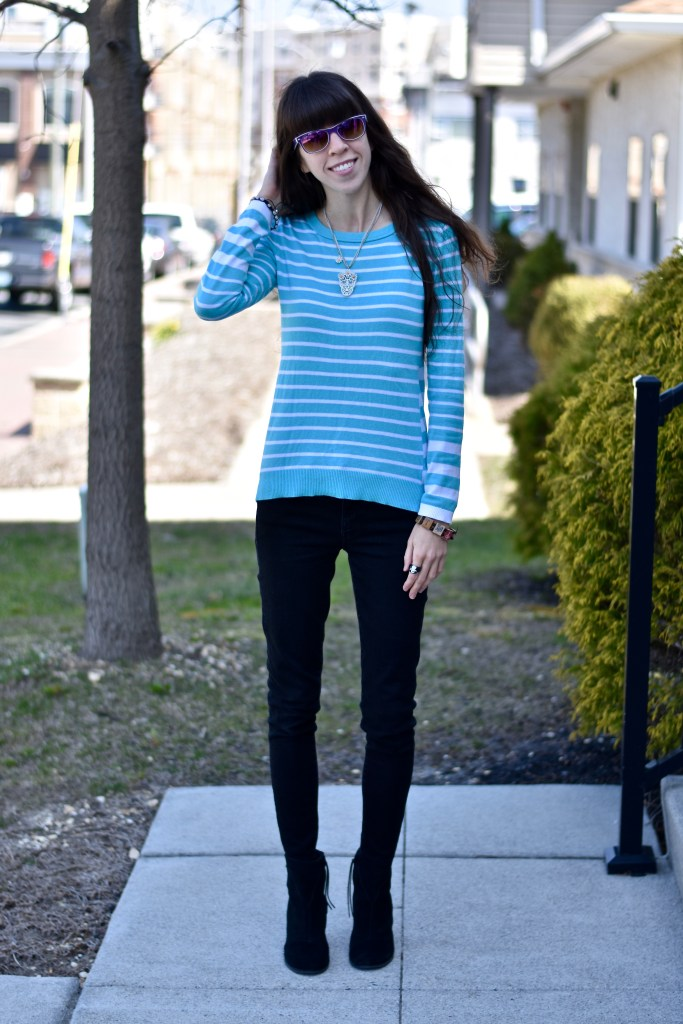 Fun Spring Sweater- thepoppyskull.com