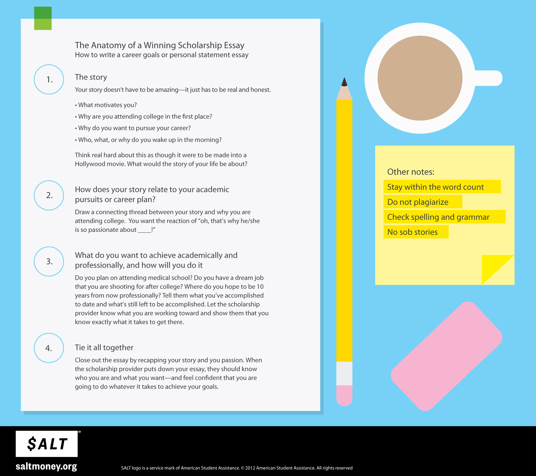 Do Your Essay Apply For Many Scholarships One Essay Infographic Salt