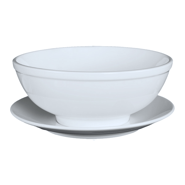 Ly's Horeca Middle Rim Soup Bowl and Saucer by Minh Long