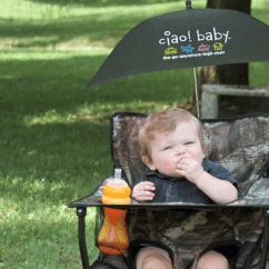 Infant Beach Chair With Umbrella Norwalk Sofa And Austin Ciao Baby The Portable High Go Anywhere