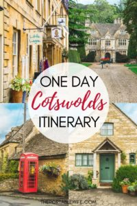 One Day Cotswolds Itinerary