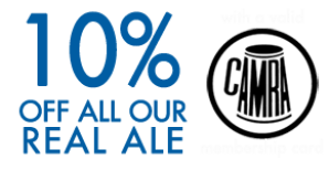 10% off all Real Ale