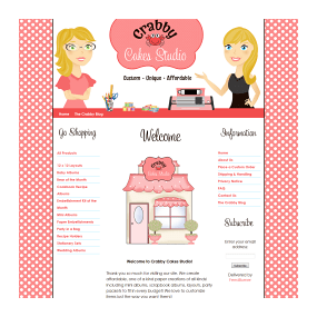 Crabby Cakes Boutique - Blogger Boutique and Blog Design
