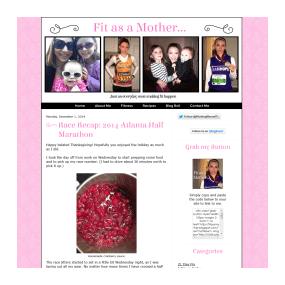 Fit as a Mother - Custom Basic Blog Design