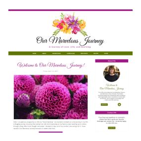 Our Marvelous Journey - Custom Deluxe Blogger Design