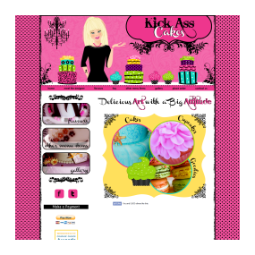 Kick Ass Cakes - Custom Deluxe Web Design created using pure HTML/CSS