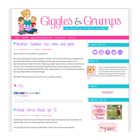 Giggles and Grumps - Custom Deluxe WordPress Blog Design