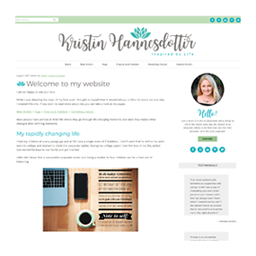 Kristin Hannesdottir - WordPress Deluxe Blog Design