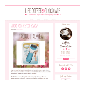 Life, Coffee and Chocolate - Custom Deluxe WordPress Blog Design