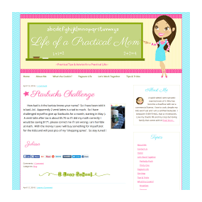 Life of a Practical Mom - WordPress Ready2Go Blog Design