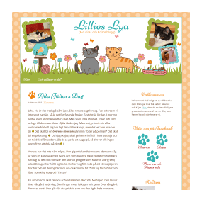 Lillies Lya - Custom Basic WordPress Blog Design