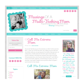 Musings of a Multi-Tasking Mom- Custom Deluxe WordPress Blog Design
