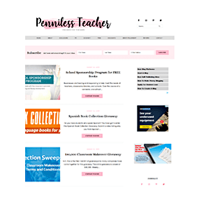 Penniless Teacher - Custom Deluxe WordPress Blog Design