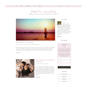 Priti Jajoo - WordPress Semi-Custom Blog Design