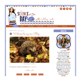 Science by the Bay with Mrs A - WordPress Deluxe Blog Design